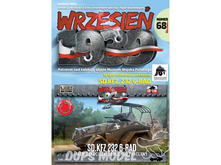 First to Fight maquette militaire pl068 Voiture blindée lourde allemande Sd.Kfz. 232 6 Rad 1/72