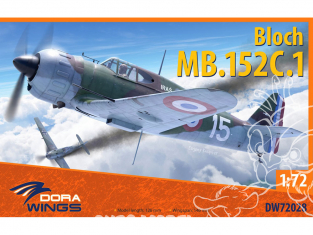 Dora Wings maquette avion DW72028 Bloch MB.152C.1 1/72