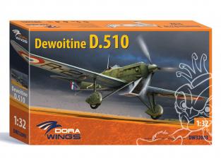 Dora Wings maquette avion DW32003 Dewoitine D.510 1/32