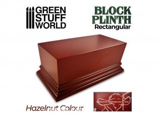 Green Stuff 500683 Socle Rectangulaire Ouvragé 12x6cm Brun Noisette