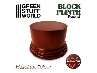 Green Stuff 500607 Socle Cylindre Ouvragé 8cm Brun Noisette