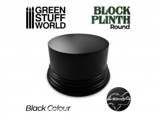 Green Stuff 500621 Socle Cylindre Ouvragé 8cm Noir