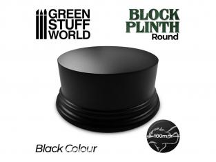 Green Stuff 500638 Socle Cylindre Ouvragé 10cm Noir
