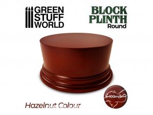 Green Stuff 500614 Socle Cylindre Ouvragé 10cm Brun Noisette