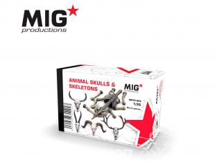 MIG Productions by AK MP35-424 Cranes et squelette animaux 1/35