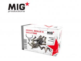 MIG Productions by AK MP48-424 Cranes et squelette animaux 1/48