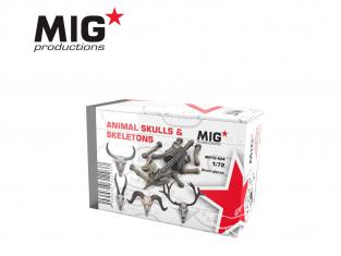 MIG Productions by AK MP72-424 Cranes et squelette animaux 1/72