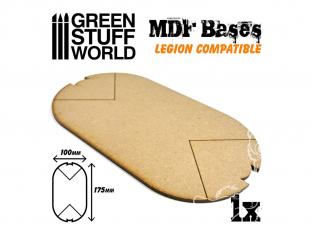 Green Stuff 502335 Socle RECTANGULAIRES 100x60mm en MDF
