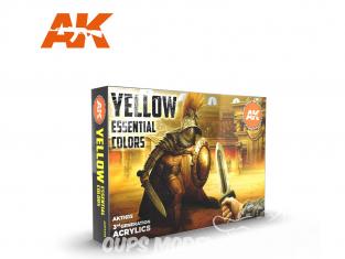 Ak interactive peinture acrylique 3G Set AK11615 Jaune : Couleurs essentielles 6 x 17ml