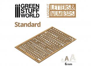 Green Stuff 501338 Lettres et nombres 6 mm STANDARD