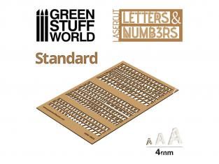 Green Stuff 501321 Lettres et nombres 4 mm STANDARD