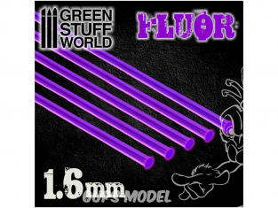 Green Stuff 500799 Tiges Acryliques ROND 1,6 mm Fluor VIOLET