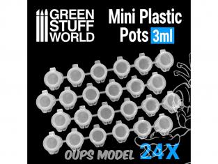 Green Stuff 508222 24x Pot de Mélange Vides 3 ml