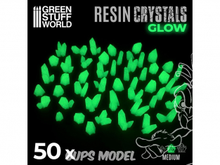 Green Stuff 508918 Cristaux de Résine VERTS GLOW - Moyen