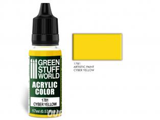 Green Stuff 501407 Acrylic Color CYBER YELLOW
