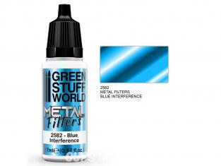 Green Stuff 509410 Filtres Métalliques Interférence Bleue