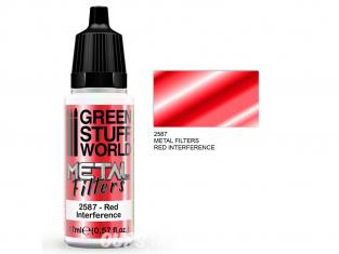 Green Stuff 509465 Filtres Métalliques Interférence Rouge