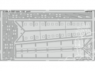 Eduard photodécoupe avion 32469 Slats F-100C Trumpeter 1/32