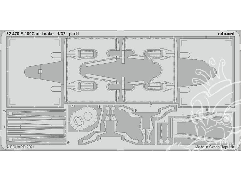 Eduard photodécoupe avion 32470 Aéro freins F-100C Trumpeter 1/32