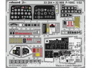 Eduard photodécoupe avion 33284 Zoom Intérieur F-100C Trumpeter 1/32