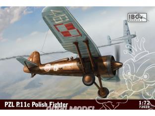 IBG maquette avion 72519 PZL P.11C Combattant dans le service roumain 1/72