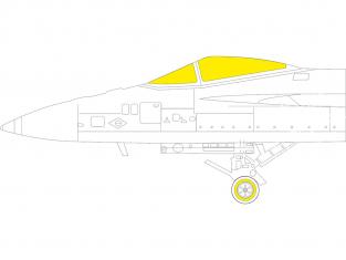 Eduard Express Mask EX787 F/A-18E TFace Meng 1/48
