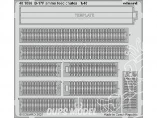 EDUARD photodecoupe avion 481056 Goulottes d'alimentation en munitions B-17F Hk Models 1/48