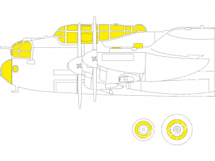 Eduard Express Mask EX793 Lancaster B Mk.I TFace Hk Models 1/48