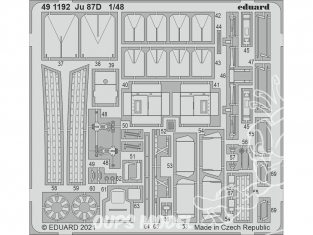 EDUARD photodecoupe avion 491192 Amélioration Junkers Ju 87D Hasegawa / Hobby 2000 1/48