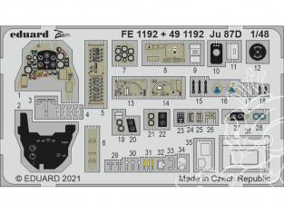 EDUARD photodecoupe avion FE1192 Zoom amélioration Junkers Ju 87D Hasegawa / Hobby 2000 1/48