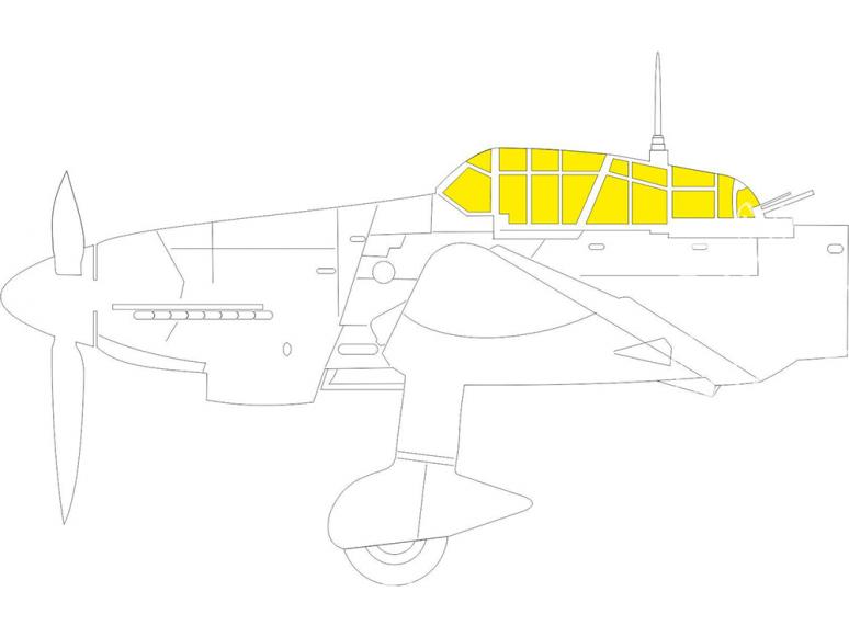 Eduard Express Mask EX785 Junkers Ju 87D TFace Hasegawa / Hobby 2000 1/48