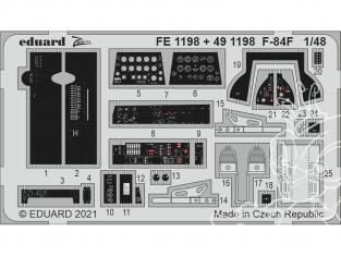 EDUARD photodecoupe avion FE1198 Zoom amélioration F-84F Kinetic 1/48