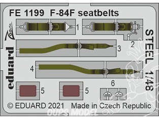 EDUARD photodecoupe avion FE1199 Harnais métal F-84F Kinetic 1/48