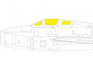 Eduard Express Mask EX791 F-84F TFace Kinetic 1/48