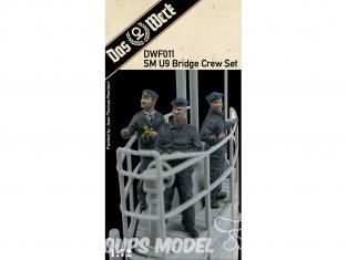 DAS WERK Figurine DWF011 Ensemble d'équipage de pont SM U9 1/72
