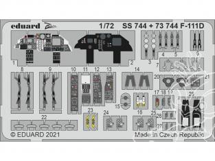 Eduard photodecoupe avion SS744 Zoom amélioration F-111D Hasegawa / Hobby 2000 1/72