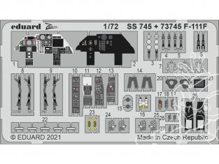 Eduard photodecoupe avion 73745 Amélioration F-111F Hasegawa / Hobby 2000 1/72