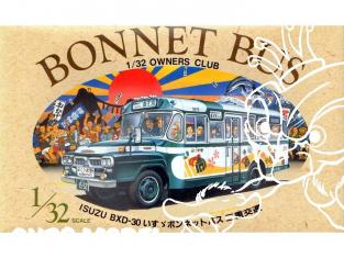 Arii maquette Bus 41031 ISUZU BXD-30 Bonnet Bus 1/32