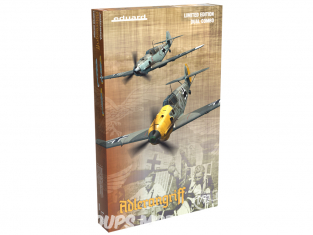 EDUARD maquette avion 2136 Adlerangriff Messerschmitt Bf 109E-1 / 3 / 4 Bataille d'Angleterre Edition Limitée Dual Combo 1/72
