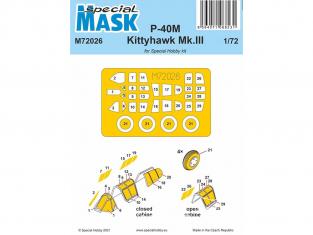 Special Hobby Masque avion M72026 Pour P-40M Warhawk/Kittyhawk Mk.III 1/72