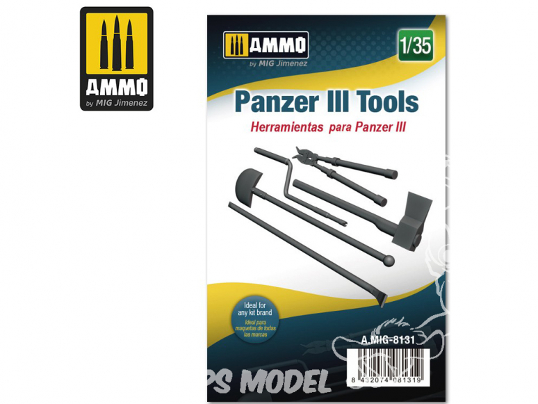 Ammo Mig accessoire 8131 Outils Panzer III 1/35