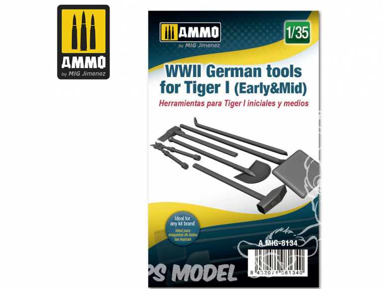 Ammo Mig accessoire 8134 Outils Tigre I (Early & Mid) WWII 1/35