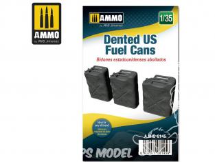 Ammo Mig accessoire 8145 Bidons de carburant US bosselés WWII 1/35