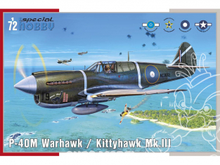 Special Hobby maquette avion 72382 P-40M Warhawk 1/72