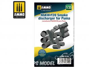 Ammo Mig accessoire 8149 NbKWrf39 Déchargeur de grenandes fumigènes pour Puma 1/35