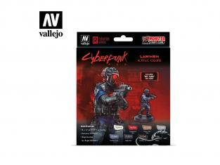 Vallejo Set Cyberpunk 72308 Lawmen 8x 17ml Inclus miniature