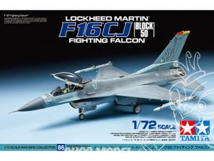 tamiya maquette avion 60786 F-16CJ Block 50 Fighting falcon 1/72