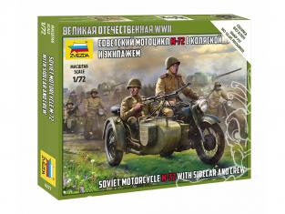 Zvezda maquette militaire 6277 Moto soviétique M-72 avec side-car et équipage 1/72