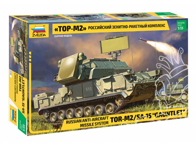"""Zvezda maquette militaire 3633 Système de missile anti-aérien russe """"TOR-M2"""" 1/35"""