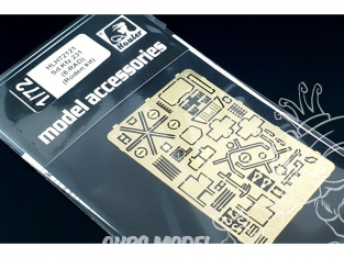 Hauler kit d'amelioration HLH72121 Sd.Kfz.231 (8-RAD) pour kit Roden 1/72